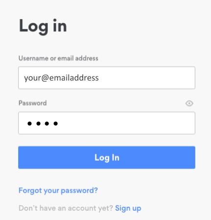 NordVPN log in
